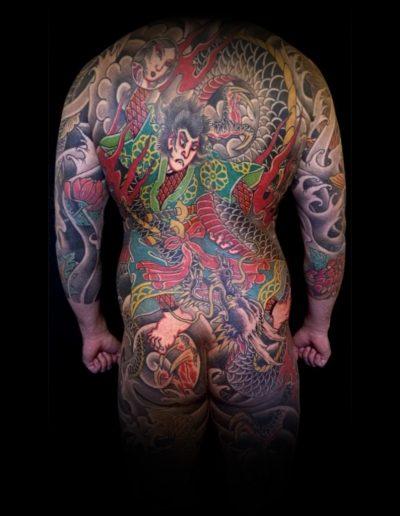 Backpease by Mika Ilmaniemi Tattoomika